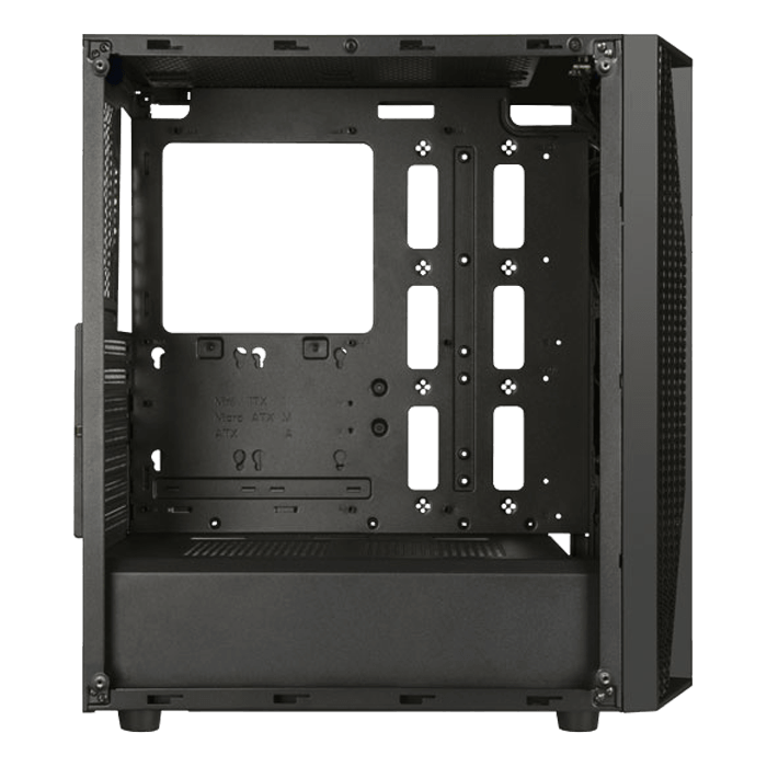FARA B1 Tempered Glass, No PSU, ATX, Black, Mid Tower Case