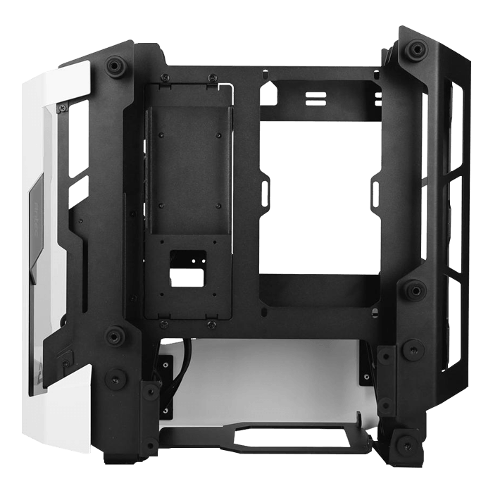 STRIKER Tempered Glass, No PSU, mini-ITX, White/Black, Mini Tower Case