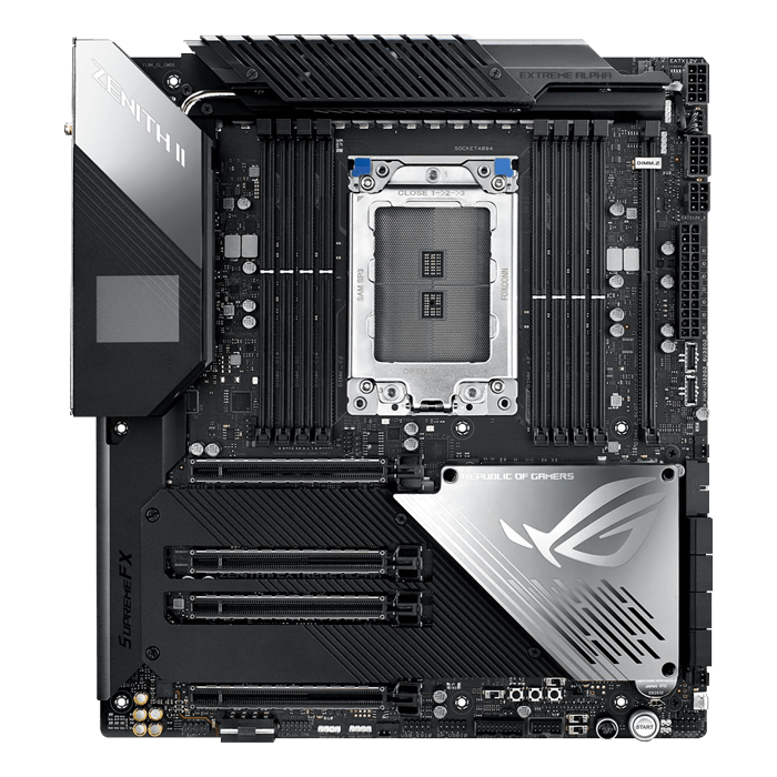 ROG Zenith II Extreme Alpha, AMD TRX40 Chipset, Type-C 2x2, E-ATX Motherboard