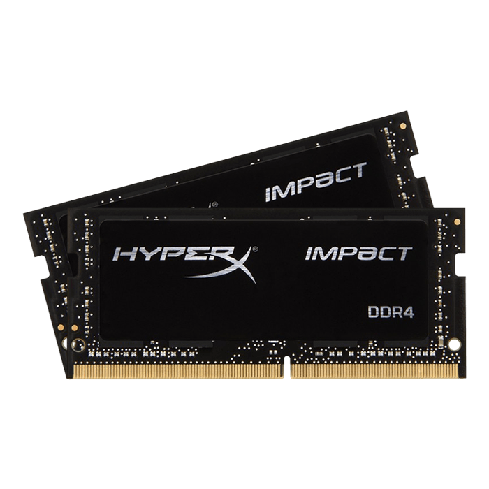 64GB Kit (2 x 32GB) HyperX Impact DDR4 2400MHz, CL15, Black, SO-DIMM Memory