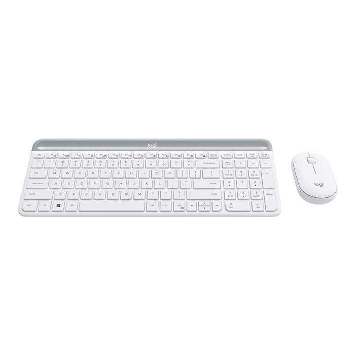 MK470 Slim, 1000 dpi, Wireless 2.4GHz USB, White, Keyboard & Mouse