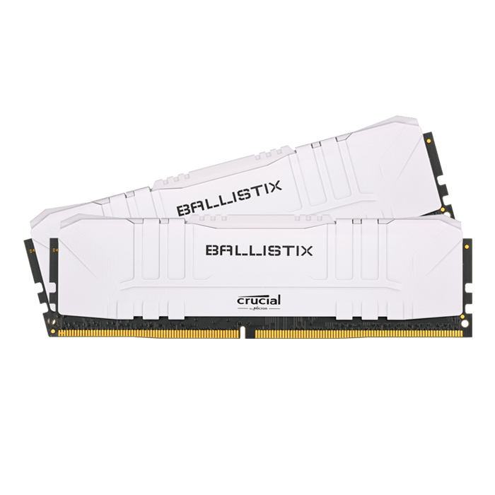 16GB Kit (2 x 8GB) Ballistix DDR4 3000MHz, CL15, White, DIMM Memory