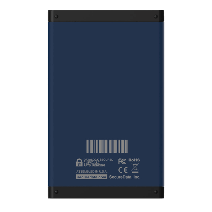2TB SecureDrive® BT 355 / 333 MB/s, USB 3.1, Hardware Encrypted External SSD
