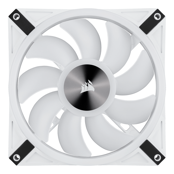iCUE QL140 RGB PWM 140mm, 1250 RPM, 50.2 CFM, 26 dBA, White Cooling Fan