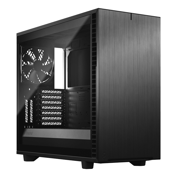 Define 7 Light Tempered Glass, No PSU, E-ATX, Black Mid Tower Case