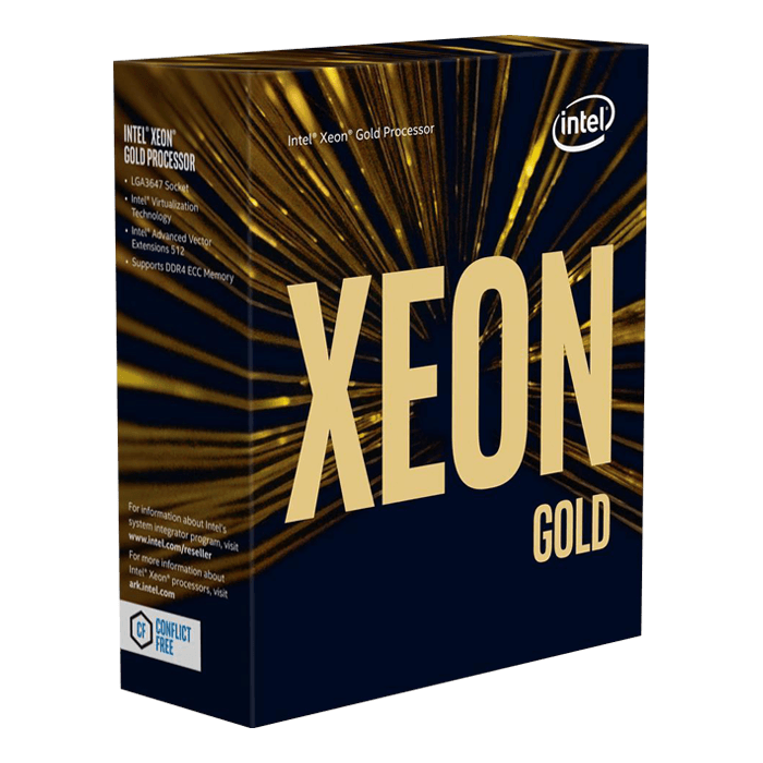 Xeon® Gold 5218R 20-Core 2.1 - 4.0GHz Turbo, LGA 3647, 2 UPI, 125W, Retail Processor