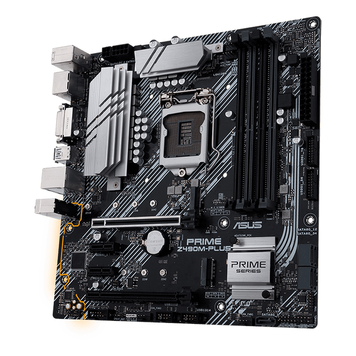 Prime Z490M-Plus, Intel® Z490 Chipset, LGA 1200, DP, microATX Motherboard