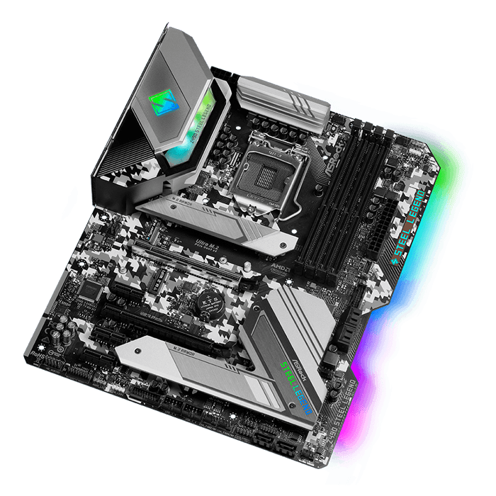 Z490 Steel Legend, Intel® Z490 Chipset, LGA 1200, DP, ATX Motherboard