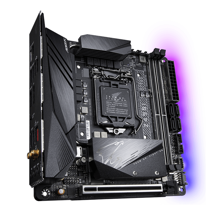 Z490I AORUS ULTRA, Intel® Z490 Chipset, LGA 1200, DP, Mini-ITX Motherboard