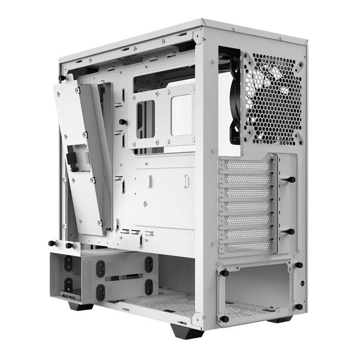 Pure Base 500DX, Tempered Glass, No PSU, ATX, White, Mid Tower Case