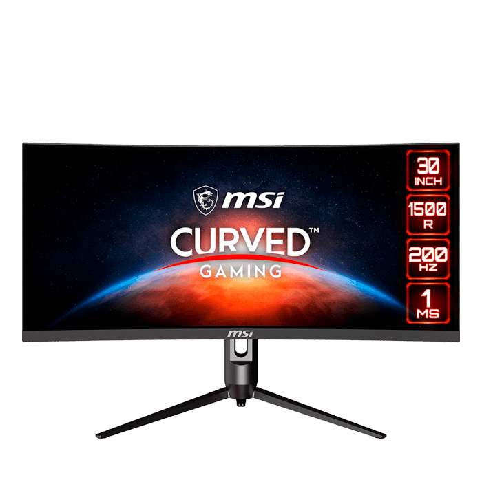 "Optix MAG301CR 30"", WFHD 2560 x 1080 VA LED, 1ms, 200Hz, FreeSync, Black Curved LCD Monitor"