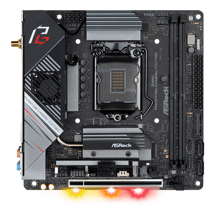 Z490 Phantom Gaming-ITX/TB3, Intel® Z490 Chipset, LGA 1200, DP, Thunderbolt™ 3, Mini-ITX Motherboard