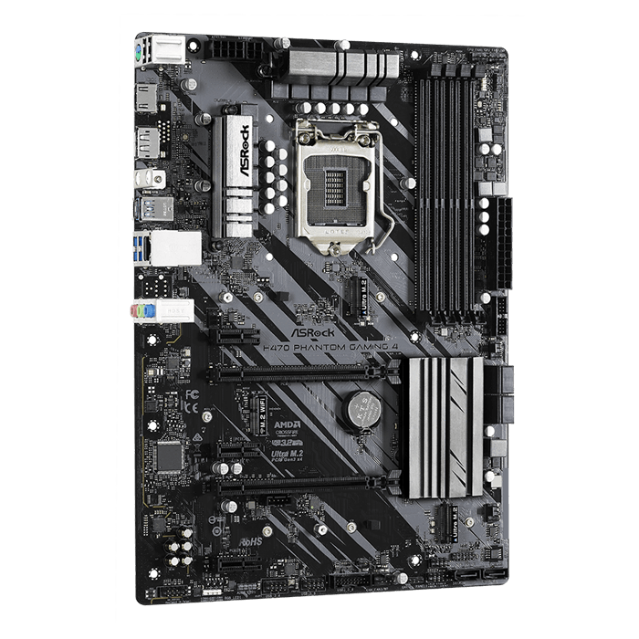 H470 Phantom Gaming 4, Intel® H470 Chipset, LGA 1200, DP, ATX Motherboard