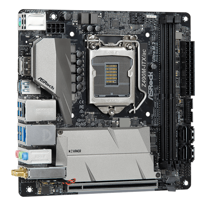 Z490M-ITX/ac, Intel® Z490 Chipset, LGA 1200, DP, Mini-ITX Motherboard