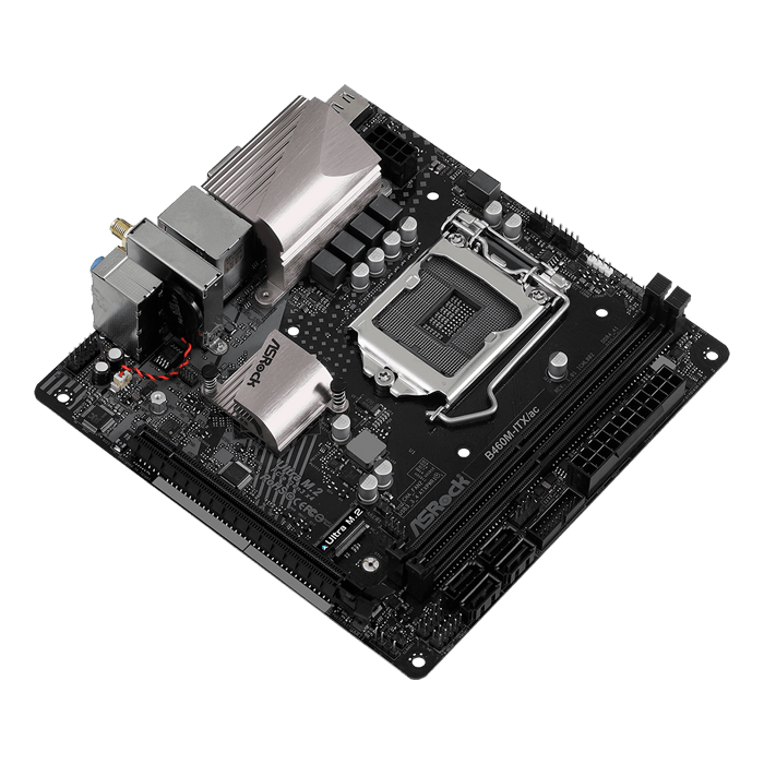 B460M-ITX/ac, Intel® B460 Chipset, LGA 1200, DP, Mini-ITX Motherboard