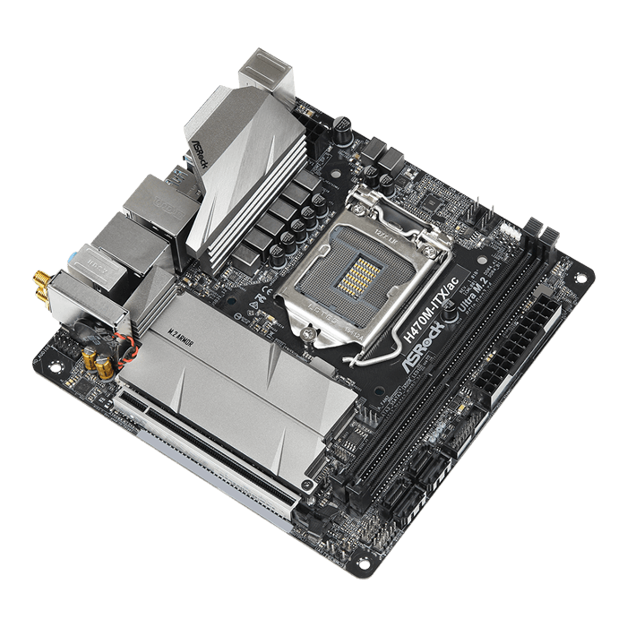 H470M-ITX/ac, Intel® H470 Chipset, LGA 1200, DP, Mini-ITX Motherboard