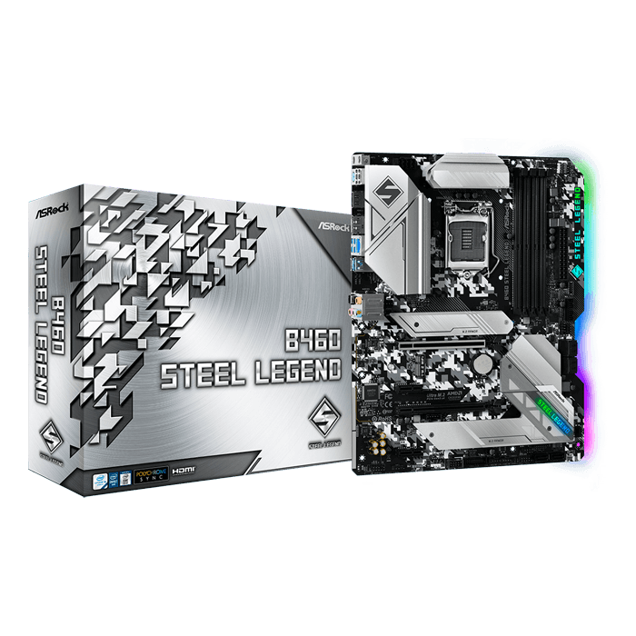 B460 Steel Legend, Intel® B460 Chipset, LGA 1200, DP, ATX Motherboard