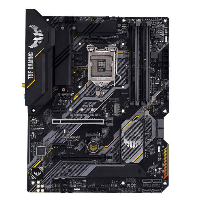 TUF Gaming B460-Pro (Wi-Fi), Intel® B460 Chipset, LGA 1200, DP, ATX Motherboard