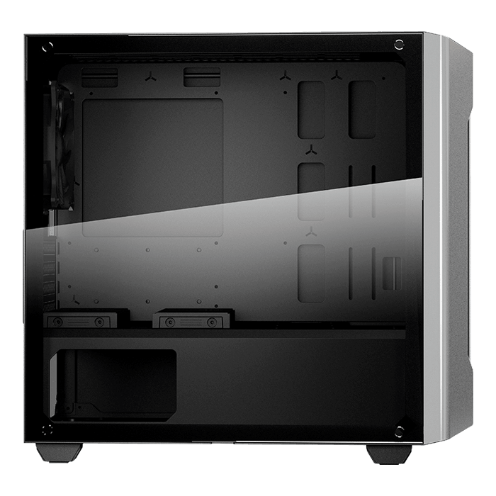 GEMINI M Tempered Glass, No PSU, microATX, Silver, Mini Tower Case