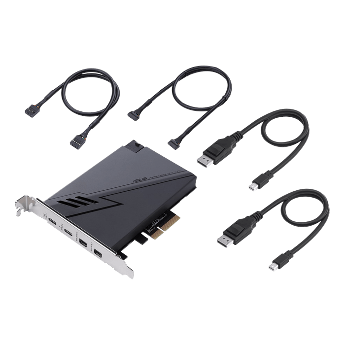 Thunderbolt™ 3-TR, 2x Thunderbolt™ 3 / 2x Mini DP, PCIe 3.0 x4 Expansion Card