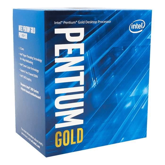 Pentium® Gold G6500 2-Core 4.1GHz, LGA 1200, 58W TDP, Retail Processor