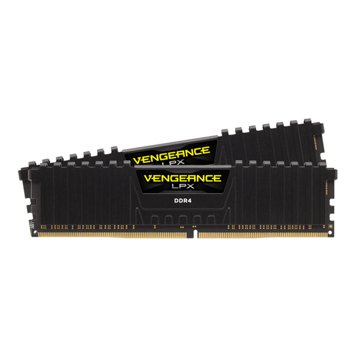16GB Kit (2 x 8GB) Vengeance LPX DDR4 3600MHz, CL18, Black, DIMM Memory