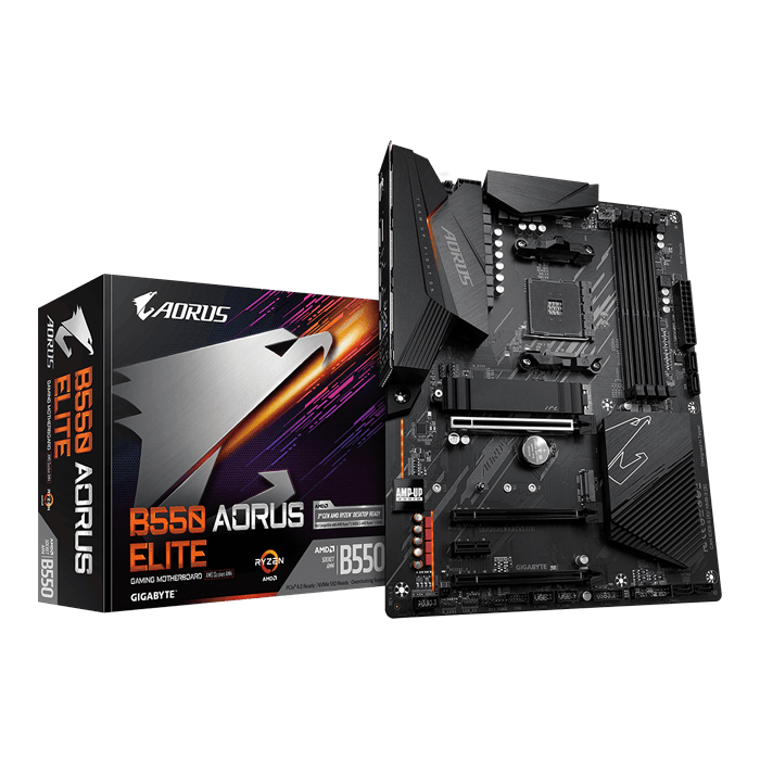 B550 AORUS ELITE, AMD B550 Chipset, AM4, DP, ATX Motherboard