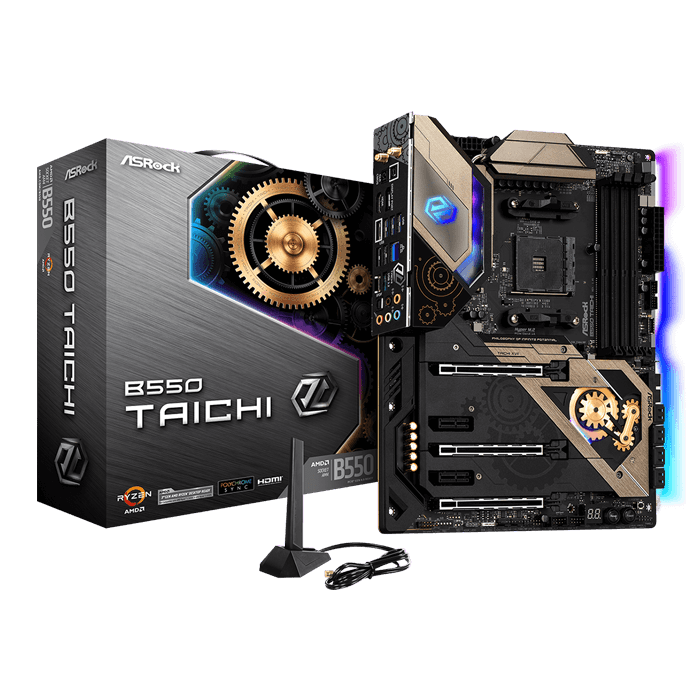 B550 Taichi, AMD B550 Chipset, AM4, DP, ATX Motherboard