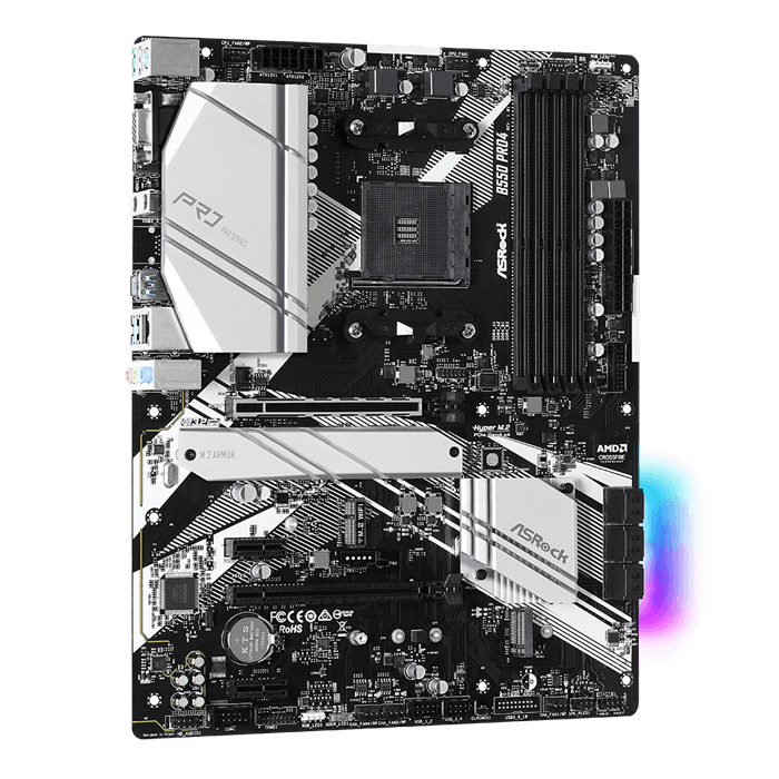 B550 Pro4, AMD B550 Chipset, AM4, HDMI, ATX Motherboard