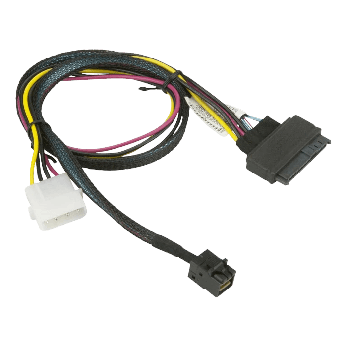 55cm MiniSAS HD SFF-8643 to U.2 PCIE SFF-8639 with Power Cable (CBL-SAST-0957)
