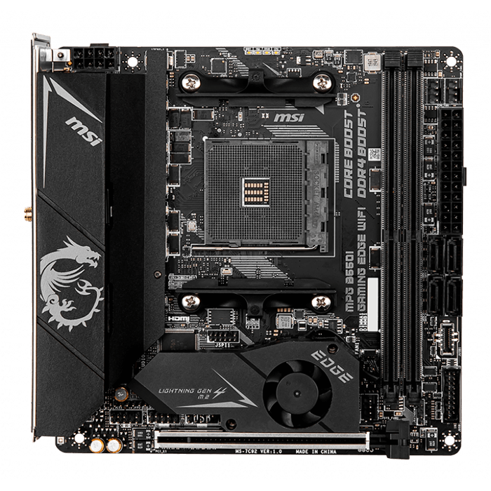 MPG B550I GAMING EDGE WIFI, AMD B550 Chipset, AM4, HDMI, Mini-ITX Motherboard