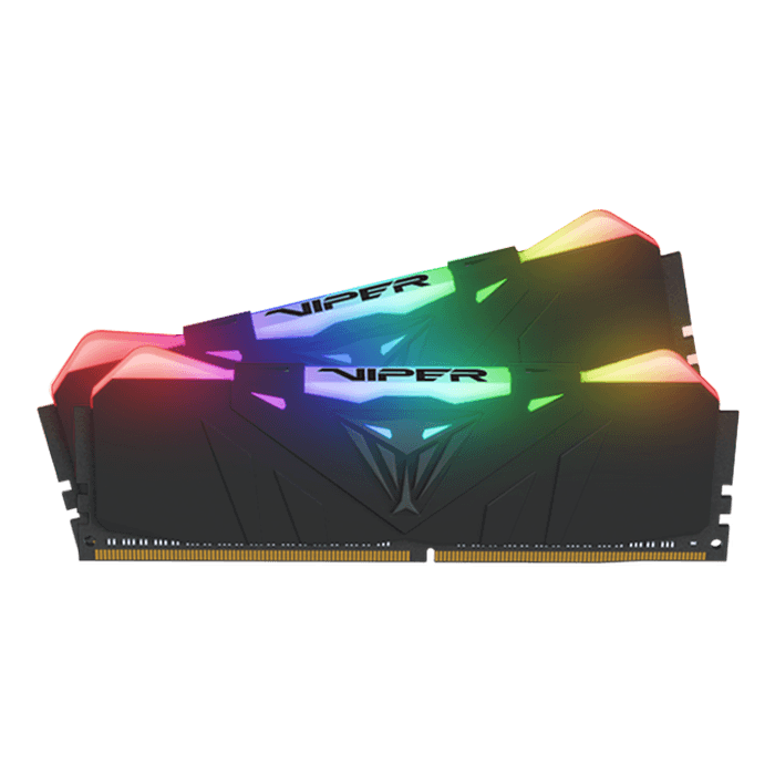 16GB Kit (2 x 8GB) Viper RGB DDR4 4000MHz, CL19, Black, RGB LED, DIMM Memory