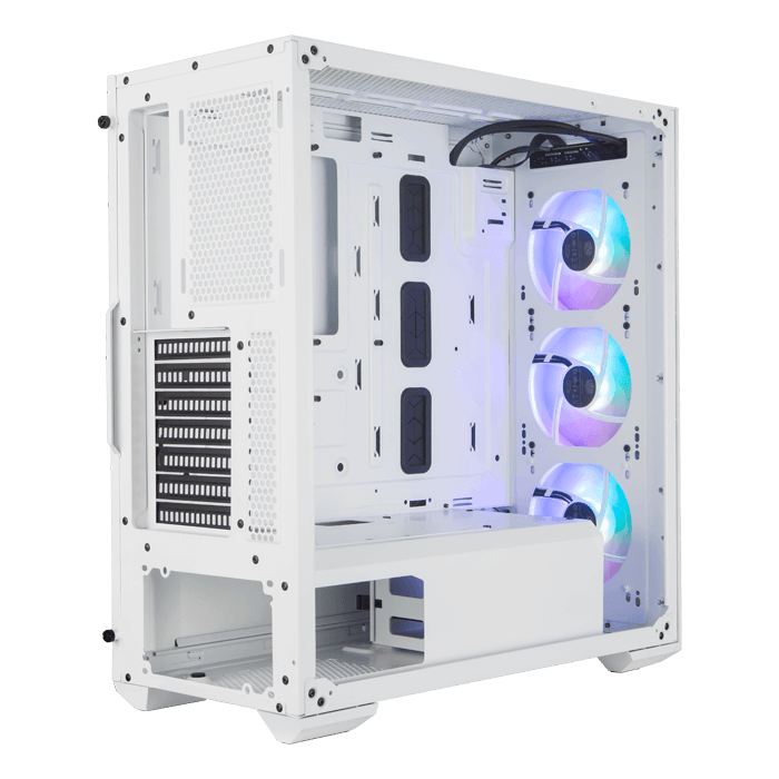 MASTERBOX TD500 MESH Tempered Glass, No PSU, E-ATX, White, Mid Tower Case
