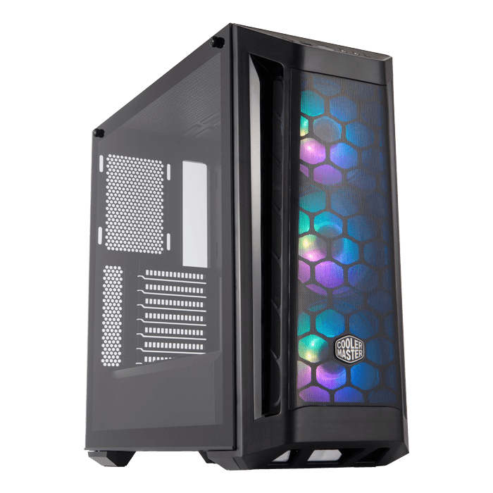 MasterBox MB511 ARGB Tempered Glass, No PSU, ATX, Black, Mid Tower Case