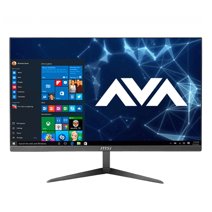 "PRO 24X 10M-223US, 23.8"" FHD IPS Grade Panel LED Backlight with MSI Anti-Flicker technology All-in-One, Intel® Core™ i7-10510U, 16GB (2x8GB) DDR4 Memory, 512GB M.2 NVMe, 1TB HDD, Intel® UHD Graphics 620, Windows 10 Home"