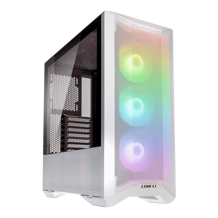 LANCOOL II MESH RGB Tempered Glass, No PSU, E-ATX, White, Mid Tower Case
