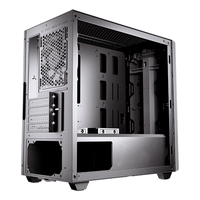 GEMINI M Tempered Glass, No PSU, microATX, Iron Grey, Mini Tower Case