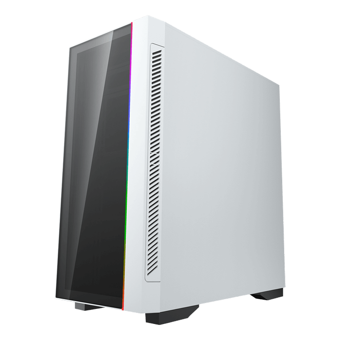 MATREXX 55 V3 ADD-RGB WH 3F Tempered Glass, No PSU, E-ATX, White, Mid Tower Case