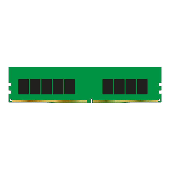 16GB KSM26ES8/16ME Single-Rank, DDR4 2666MHz, CL19, ECC Registered Memory