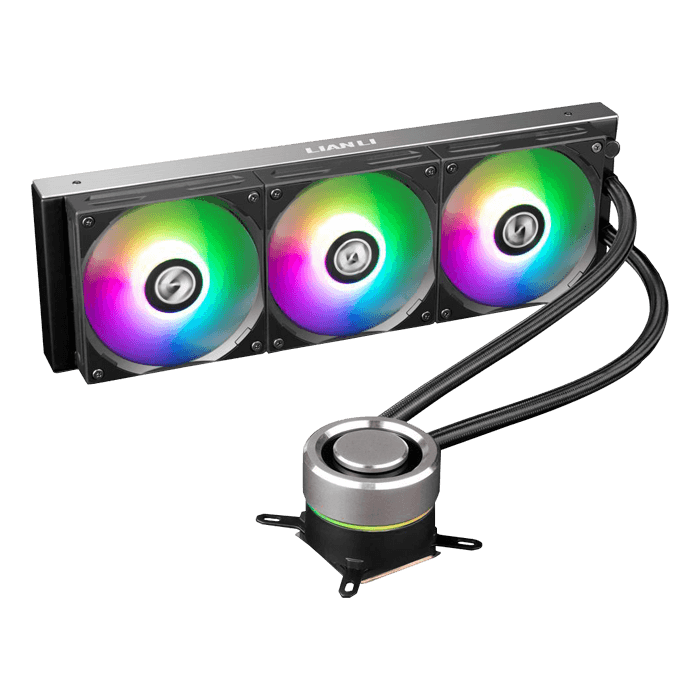 GALAHAD AIO 360 RGB BLACK, w/ One Click Controller, 360mm Radiator, Liquid Cooling System