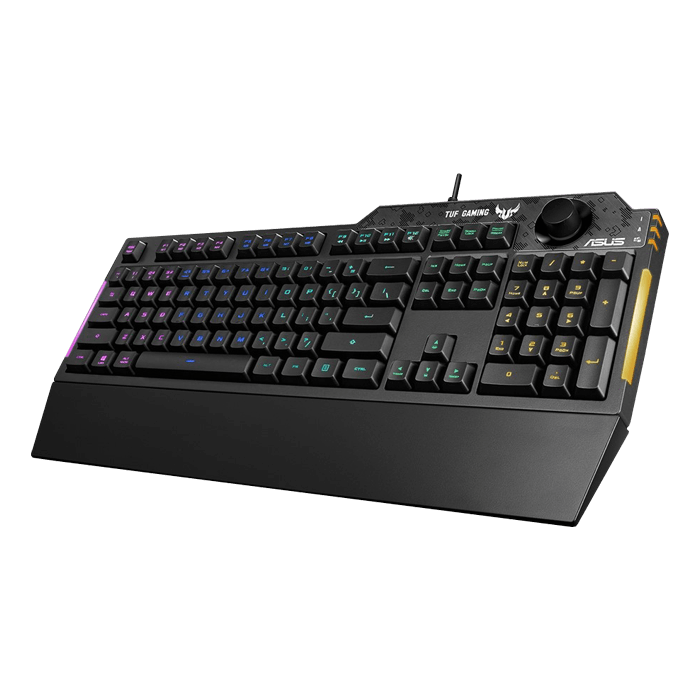 TUF Gaming K1, RGB LED, Wired USB, Black, Gaming Keyboard