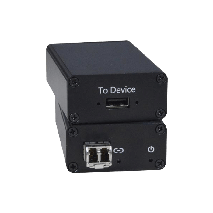1-Port USB 3.0 Extender via Two LC Singlemode or Multimode Fiber Optic Cables, 50-Micron