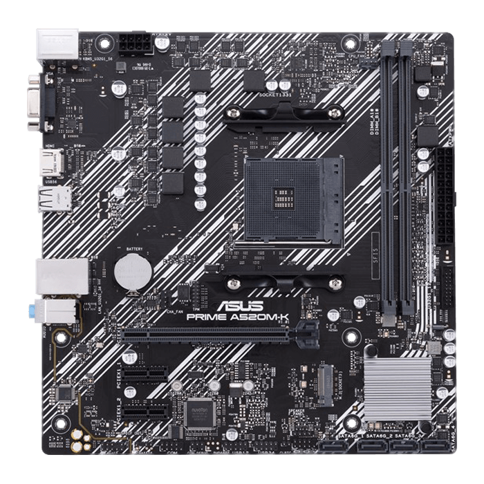 Prime A520M-K, AMD A520 Chipset, AM4, HDMI, microATX Motherboard
