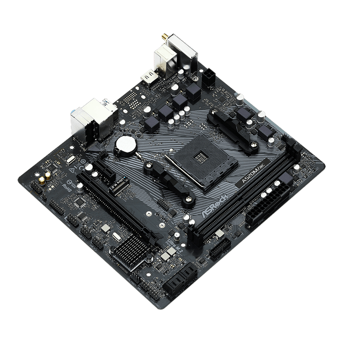 A520M/ac, AMD A520 Chipset, AM4, HDMI, microATX Motherboard