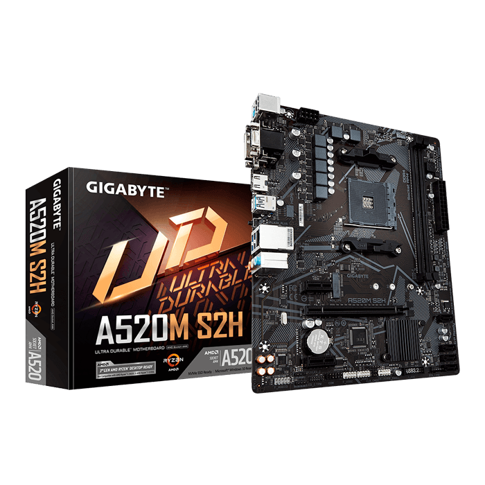A520M S2H, AMD A520 Chipset, AM4, HDMI, microATX Motherboard