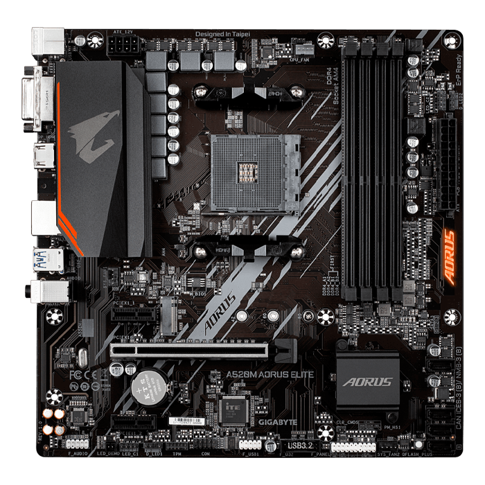 A520M AORUS ELITE, AMD A520 Chipset, AM4, HDMI, microATX Motherboard