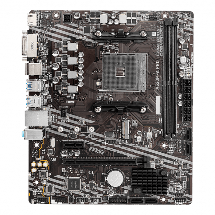 A520M-A PRO, AMD A520 Chipset, AM4, HDMI, microATX Motherboard