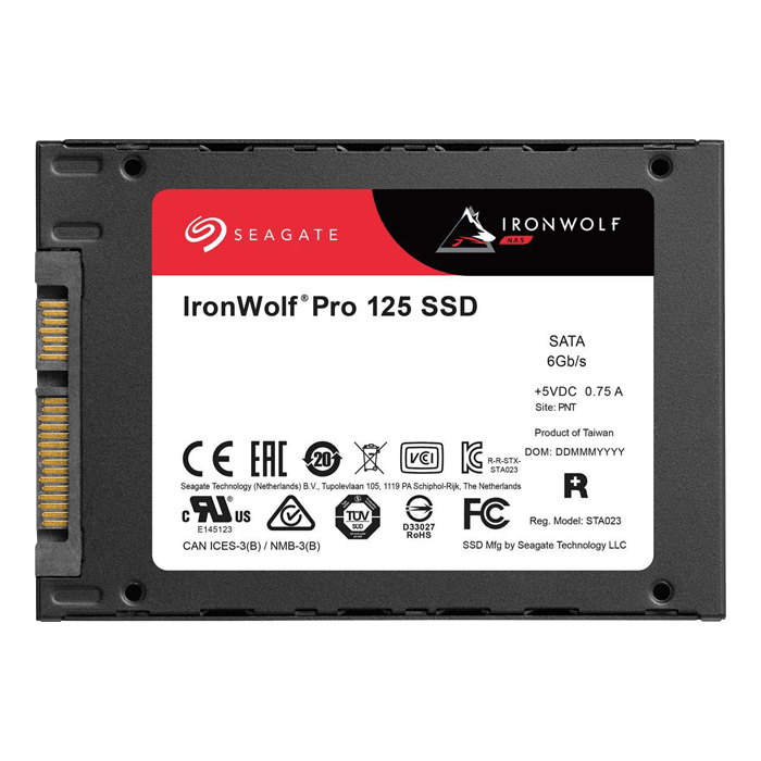 480GB IronWolf Pro 125 7mm, 545 / 500 MB/s, 3D NAND TLC, SATA 6Gb/s, 2.5-Inch SSD