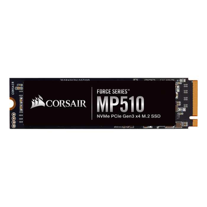 480GB Force MP510 2280, 3480 / 2000 MB/s, 3D TLC NAND, PCIe 3.0 x4 NVMe, M.2 SSD