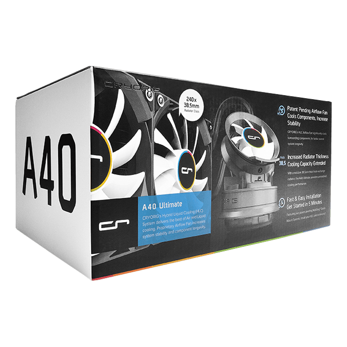 A40 Ultimate, 240mm Radiator, Black, Liquid Cooling System